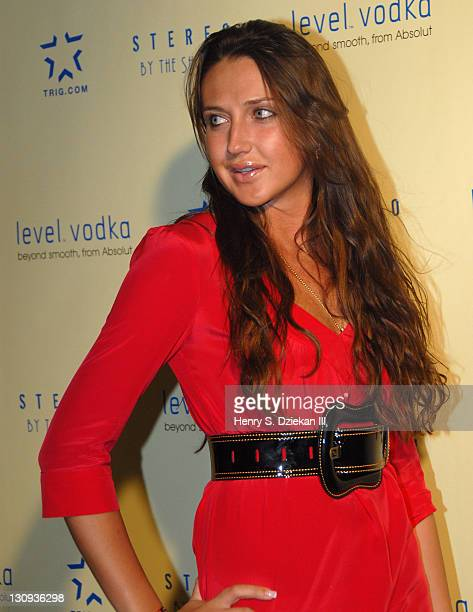 Anna Anisimova during Level Vodka Presents Stereo By The Shore Launch Party Hosted By Fergie Arrivals at Stereo NYC in New York City New York United...