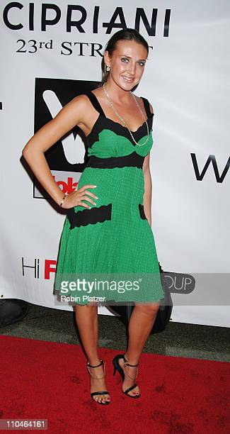 Anna Anissimova during 2006 MTV Video Music Awards Dripping in Whiteflashcom Diamonds PreVMA Party Arrivals at Ciprianis 23rd Street in New York City...