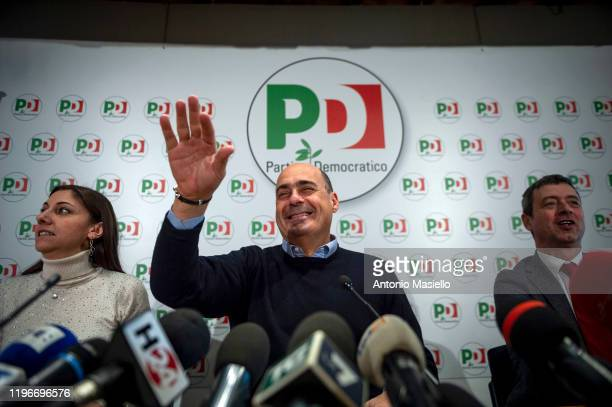 Anna Ascani General Secretary of Democratic Party Nicola Zingaretti and Andrea Orlando hold a press conference the day after the regional political...