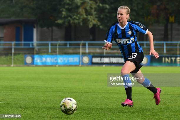 Anna Auvinen of FC Internazionale Women in action during the Women Serie A match between FC Internazionale and Orobica at Campo Sportivo F Chinetti...