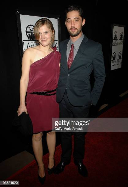 Anna Axster and Ryan Bingham attend the 35th Annual Los Angeles Film Critics Association Awards at InterContinental Hotel on January 16 2010 in...