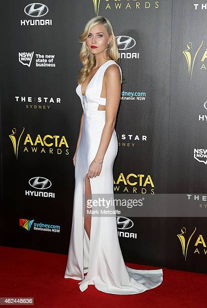 Anna Bamford arrives at the 4th AACTA Awards Ceremony at The Star on January 29 2015 in Sydney Australia