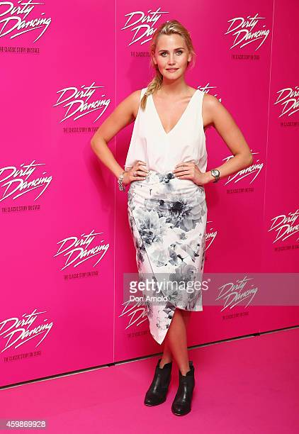 Anna Bamford arrives for the 10th anniversary tour of Dirty Dancing at Sydney Lyric Theatre on December 3 2014 in Sydney Australia