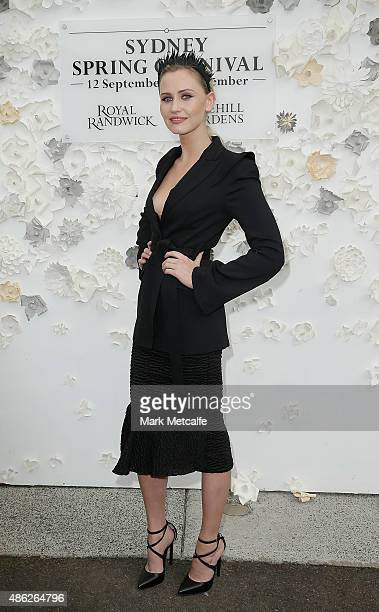 Anna Bamford poses during the 2015 Sydney Spring Carnival launch at Royal Randwick Racecourse on September 3 2015 in Sydney Australia