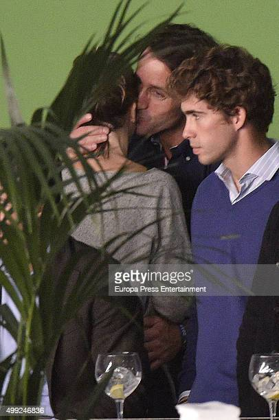 Anna Barrachina and Alvaro Munoz Escassi are seen at Madrid Horse Week on November 28 2015 in Madrid Spain
