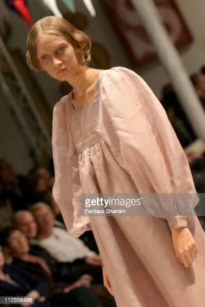 Anna Barsukova wearing Peter Jensen Spring/Summer 2006