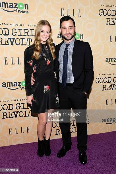 Anna Baryshnikov and Teddy Bergman attend the 'Good Girls Revolt' New York screening at the Joseph Urban Theater at Hearst Tower on October 18 2016...