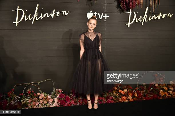 Anna Baryshnikov attends Apple's Global Premiere for Dickinson on October 17 2019 in Brooklyn New York Dickinson debuts on Apple TV the first...
