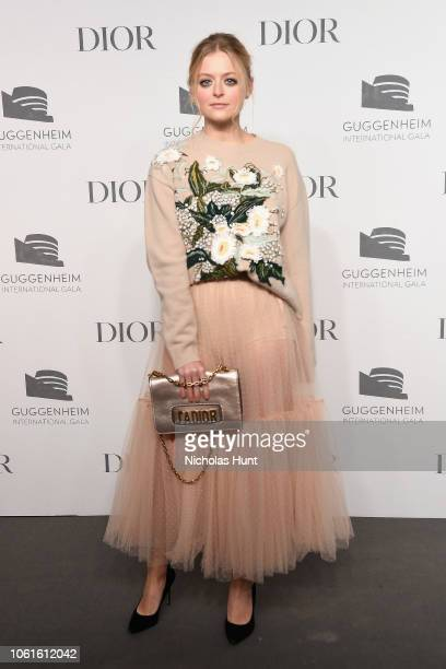 Anna Baryshnikov attends the 2018 Guggenheim International Gala PreParty made possible by Dior at Solomon R Guggenheim Museum on November 14 2018 in...