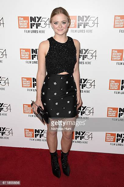 Anna Baryshnikov attends the Manchester by the Sea world premiere during the 54th New York Film Festival at Alice Tully Hall at Lincoln Center on...