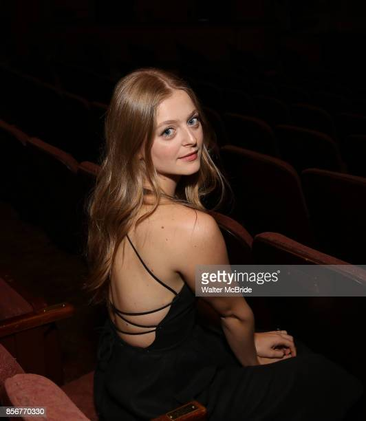 Anna Baryshnikov during her Broadway Debut photo shoot for 'Time and the Conways' at the American Airlines Theatre on November 2 2017 in New York City