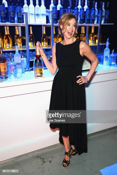 Anna Bauer with Moet at the Moet Hennessy John Legend's HEAVEN with the Art of Elysium at Barker Hangar on January 6 2018 in Santa Monica California