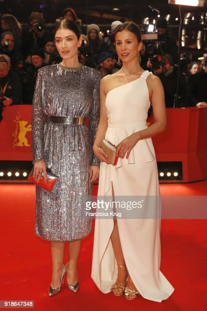 Anna Bederke and Aylin Tezel attend the Opening Ceremony 'Isle of Dogs' premiere during the 68th Berlinale International Film Festival Berlin at...
