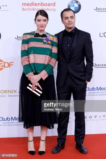 Anna Bederke and Nikolai Kinski attend the Lola German Film Award red carpet at Messe Berlin on April 28 2017 in Berlin Germany