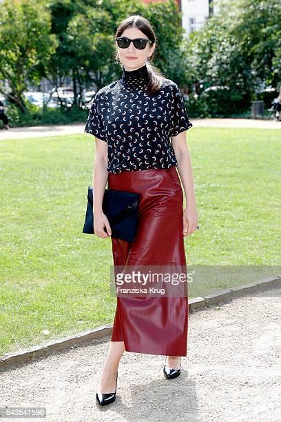 Anna Bederke attends the Dorothee Schumacher show during the MercedesBenz Fashion Week Berlin Spring/Summer 2017 at Elisabethkirche on June 29 2016...