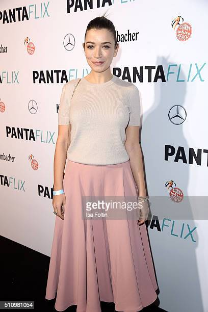 Anna Bederke attends the PantaFlix Party on February 17 2016 in Berlin Germany