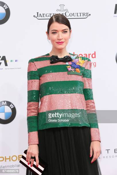 Anna Bederke during the Lola German Film Award red carpet arrivals at Messe Berlin on April 28 2017 in Berlin Germany