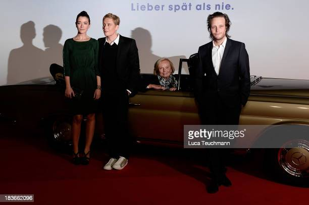 Anna Bederke Matthias Schweighoefer Ruth Maria Kubitschek and August Diehl attend the 'Frau Ella' Premiere at CineStar on October 8 2013 in Berlin...