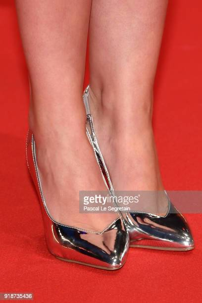 Anna Bederke shoe detail attends the Opening Ceremony 'Isle of Dogs' premiere during the 68th Berlinale International Film Festival Berlin at...