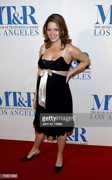 Anna Belknap attends The Museum Of Television Radio's Gala Honoring Leslie Moonves and Jerry Bruckheimer at it Annual Los Angels Gala at the Regent...