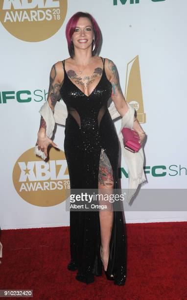 Anna Bell Peaks arrives for the 2018 XBIZ Awards held at JW Marriot at LA Live on January 18 2018 in Los Angeles California
