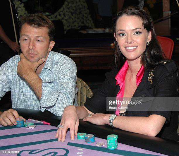 Anna Benson and guest during Anna Benson Launches Gold Digger Poker Site With TopPair Magazine at The Palms Hotel and Casino in Las Vegas Nevada...