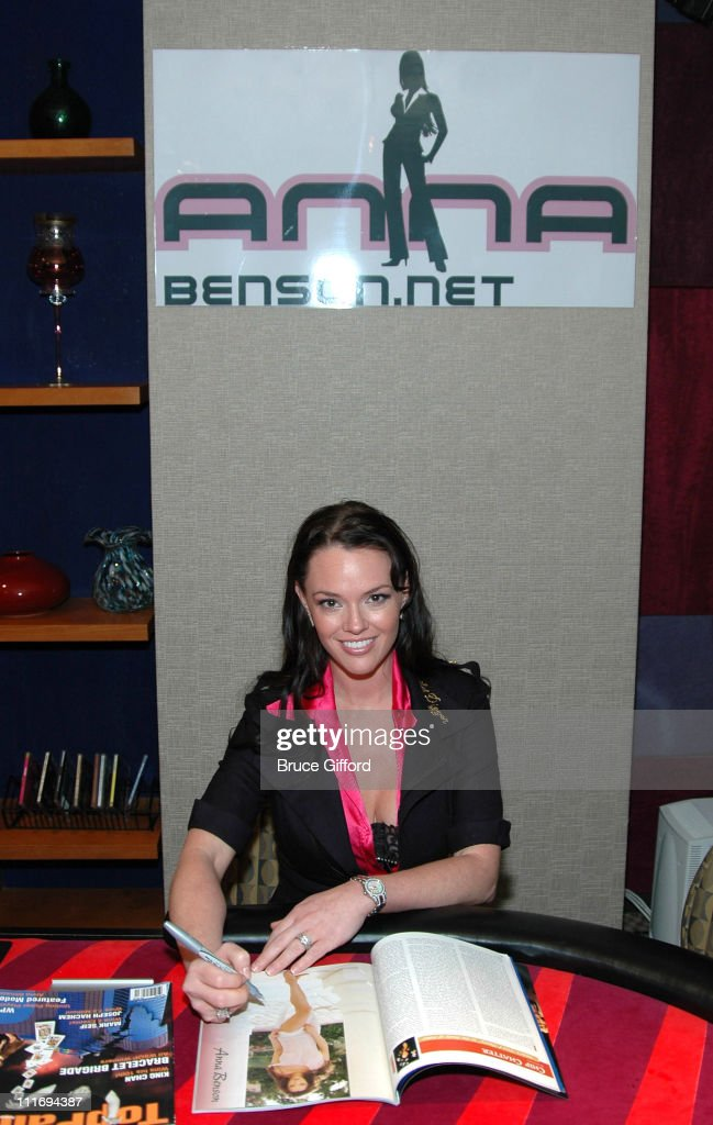 """Anna Benson Launches """"Gold Digger Poker"""" Site With TopPair Magazine : News Photo"""