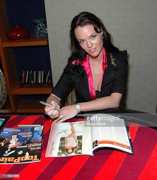 Anna Benson during Anna Benson Launches Gold Digger Poker Site With TopPair Magazine at The Palms Hotel and Casino in Las Vegas Nevada United States