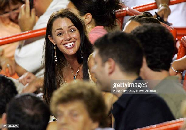 Anna Benson the wife of Baltimore Orioles' Kris Benson is in the stands to watch her husband pitch against his former team the New York Mets at Shea...