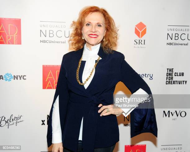 Anna Bergman attend MvVO ART Discover The Next Generation of Artists From Advertising at AD ART SHOW at Sotheby's on February 22 2018 in New York City