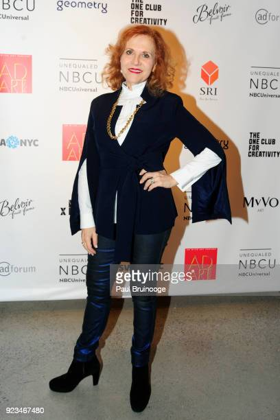 Anna Bergman attends MvVO ART Discover The Next Generation of Artists From Advertising at AD ART SHOW at Sotheby's on February 22 2018 in New York...