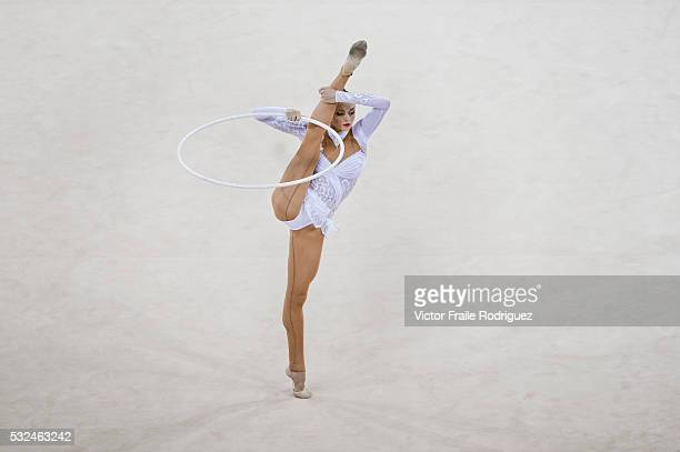 Anna Bessonova of Ukraine competes in the Gymnastics Rhythmic during the Summer Olympics Games in Beijing on 23 August 2008 China Photo by Victor...