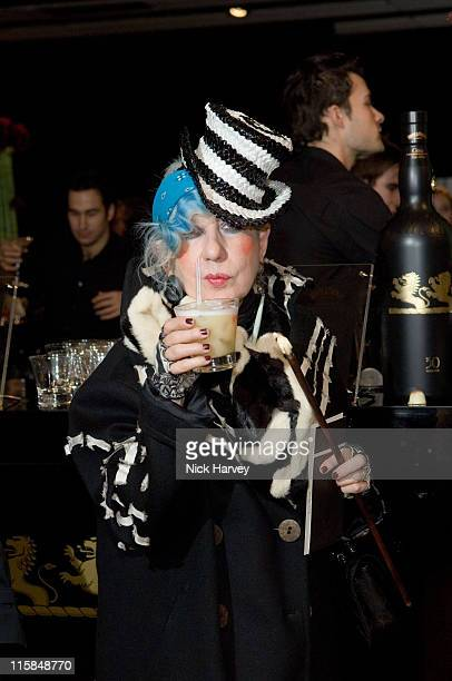Anna Biaggi from Italian Vogue during London Fashion Week Fall/Winter 2007 Jonathan Saunders The Whyte and Mackay Reception at The Hayward Gallery in...