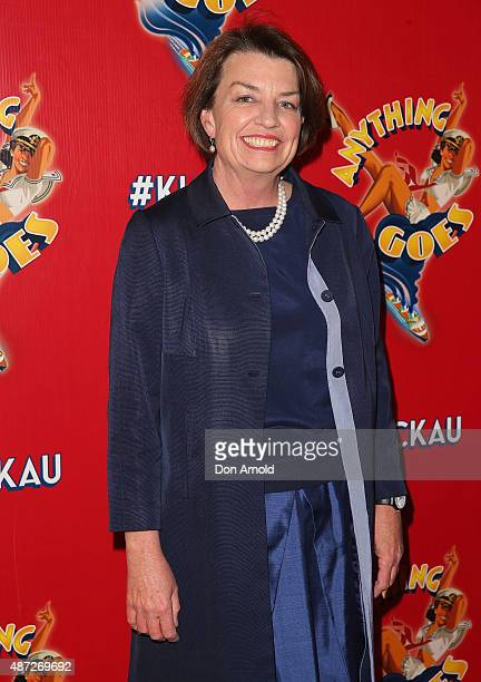 Anna Bligh arrives ahead of 'Anything Goes' opening night at Sydney Opera House on September 8 2015 in Sydney Australia
