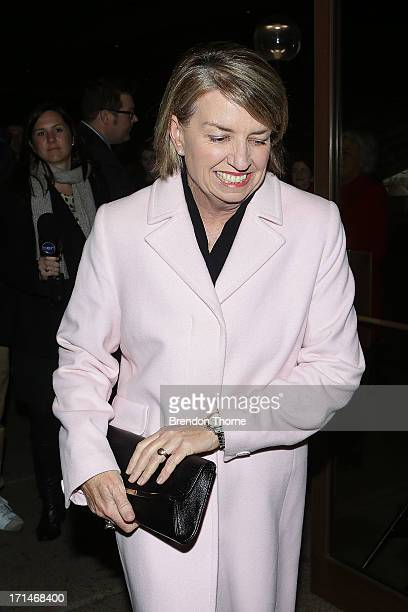 Anna Bligh attends a state memorial service for the late Hazel Hawke at the Sydney Opera House on June 25 2013 in Sydney Australia Hazel Hawke exwife...