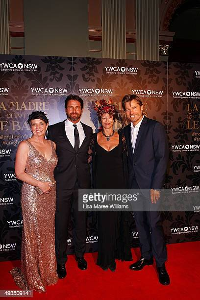 Anna Bligh Gerard Butler Rachel Ward and Nikolaj CosterWaldau attend the YMCA Mother of All Balls at Town Hall on May 24 2014 in Sydney Australia