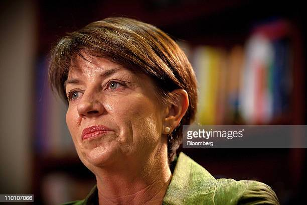 Anna Bligh premier of Queensland attends an interview at her office in Brisbane Australia on Tuesday March 15 2011 Bligh said a series of natural...
