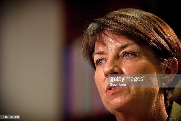 Anna Bligh premier of Queensland speaks during an interview at her office in Brisbane Australia on Tuesday March 15 2011 Bligh said a series of...