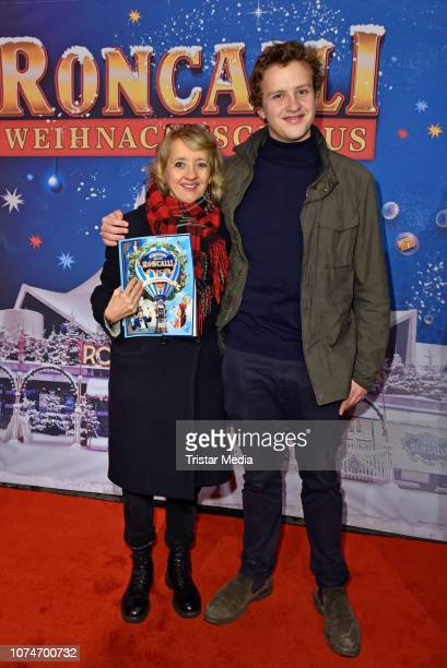 Anna Boettcher and her son Otto Boettcher attend the 15th Roncalli christmas circus premiere at Tempodrom on December 22 2018 in Berlin Germany