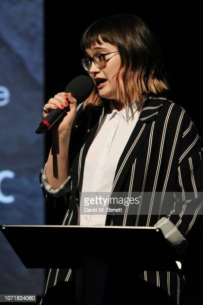 Anna Bogutskaya attends the National Geographic Documentary Films London Premiere of Free Solo at BFI Southbank on December 11 2018 in London England...