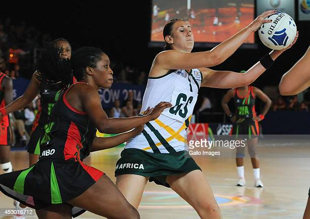 Anna Bootha of South Africa in the netball match between Malawi and South Africa during day 9 of the 20th Commonwealth Games at the Scottish...