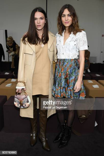 Anna Brewster and Alexa Chung attend the Chloe show as part of the Paris Fashion Week Womenswear Fall/Winter 2018/2019 on March 1 2018 in Paris France