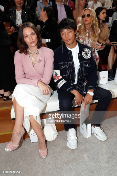 Anna Brewster and Takuya Haneda attend the Chanel Haute Couture Fall/Winter 2019 2020 show as part of Paris Fashion Week on July 02, 2019 in Paris,...