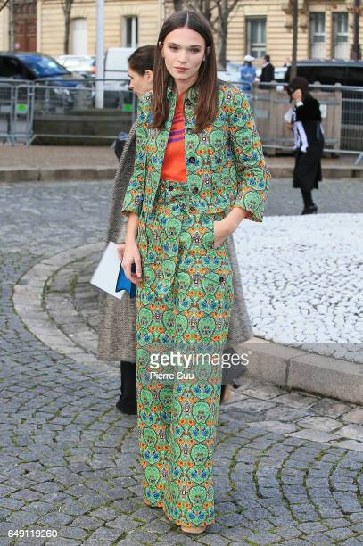 Anna Brewster arrives at the Miu Miu show as part of the Paris Fashion Week Womenswear Fall/Winter 2017/2018 on March 7 2017 in Paris France