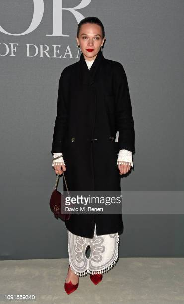 Anna Brewster attends a private view of the 'Christian Dior Designer of Dreams' exhibition at The VA on January 30 2019 in London England