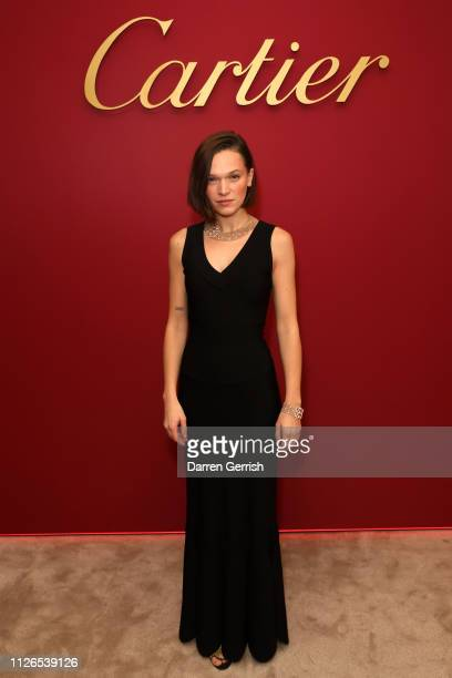 Anna Brewster attends as Cartier celebrates the reopening of the New Bond Street boutique on January 31 2019 in London England