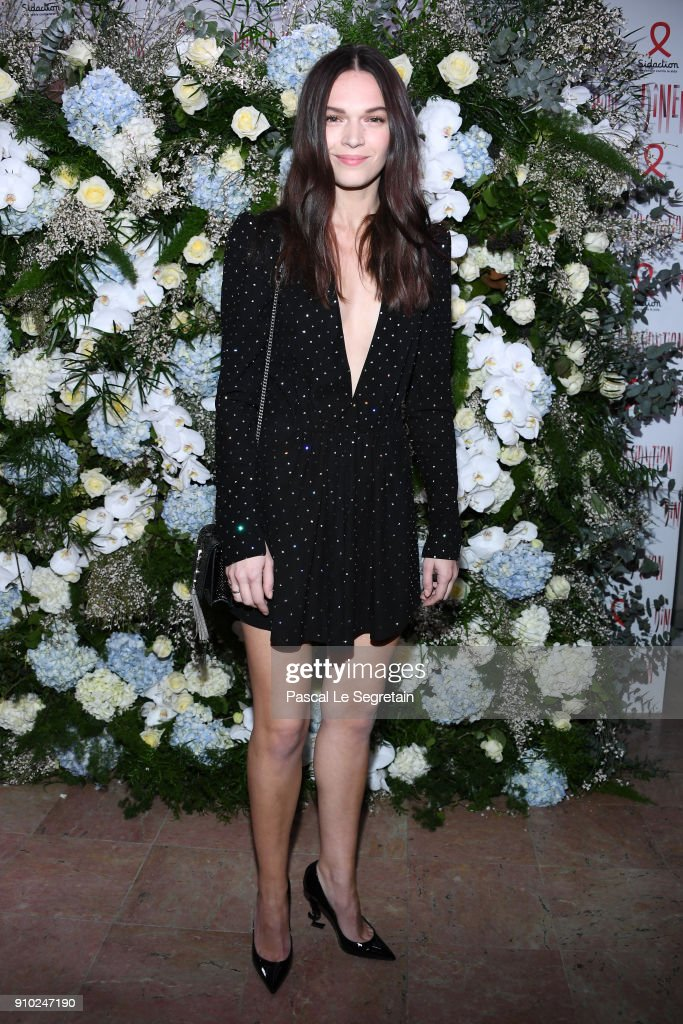 Anna Brewster attends the 16th Sidaction as part of Paris Fashion Week on January 25, 2018 in Paris, France.