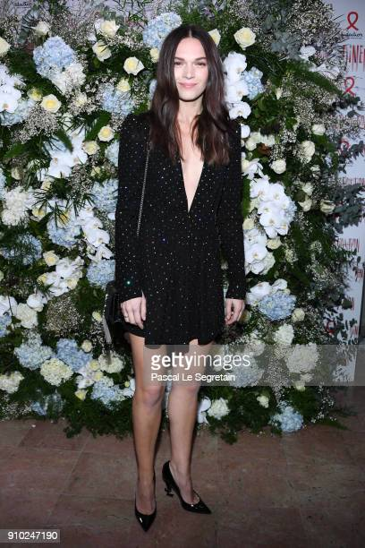 Anna Brewster attends the 16th Sidaction as part of Paris Fashion Week on January 25 2018 in Paris France