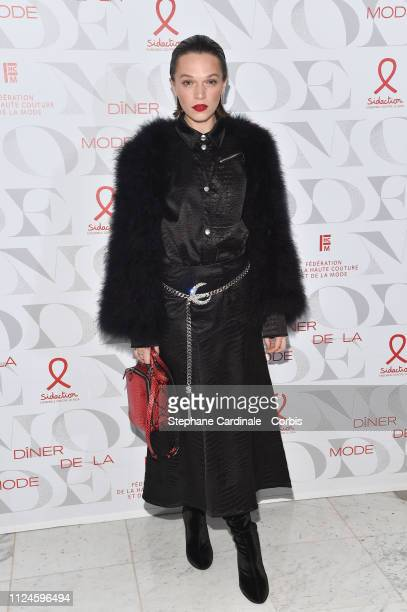 PARIS FRANCE JANUARY Anna Brewster attends the 17th Diner De La Mode as part of Paris Fashion Week on January 24 2019 in Paris France