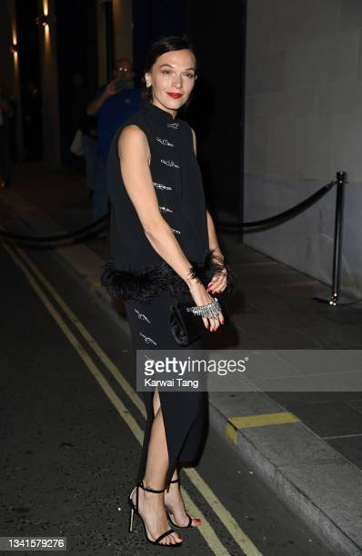 Anna Brewster attends the British Vogue x Tiffany & Co. Fashion and Film party at The Londoner Hotel on September 20, 2021 in London, England.